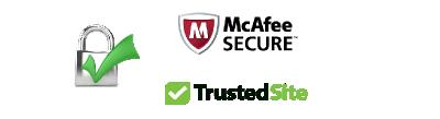 McAfee TrustedSite Secure Certified Site